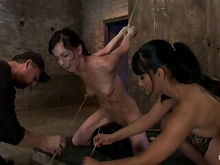 Elise Is Judged Give By Her Own Huge Nipples, Judged Give Not susceptible A Sybianany Functioning Is Nipple Pine - HogTied